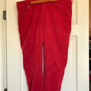 Red jeggings; Maurice's; plus size 22